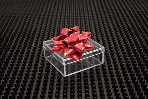 clear polystyrene plastic box